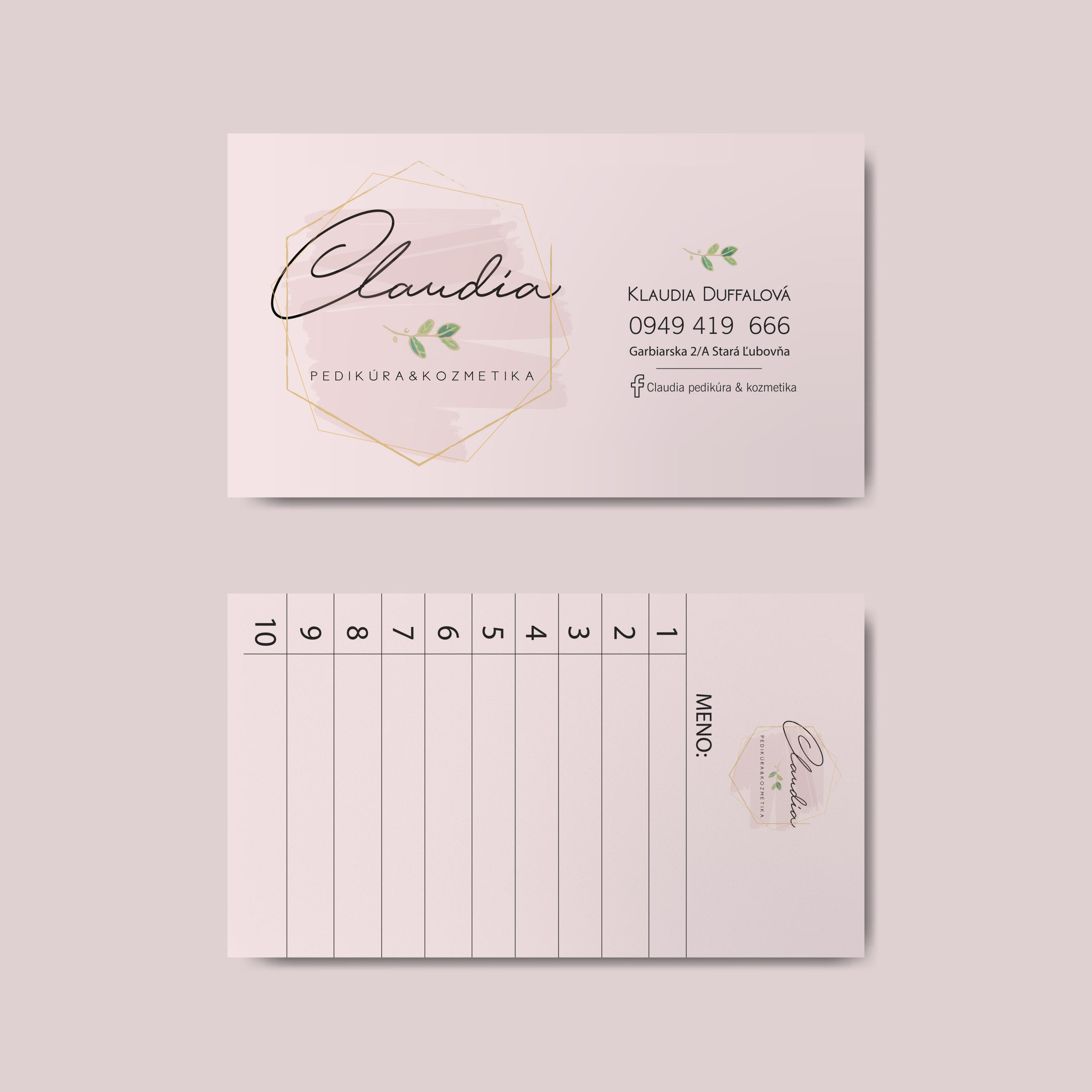 Blank business card design mockup vector